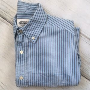 Old Navy Shirt button down blue stripes small